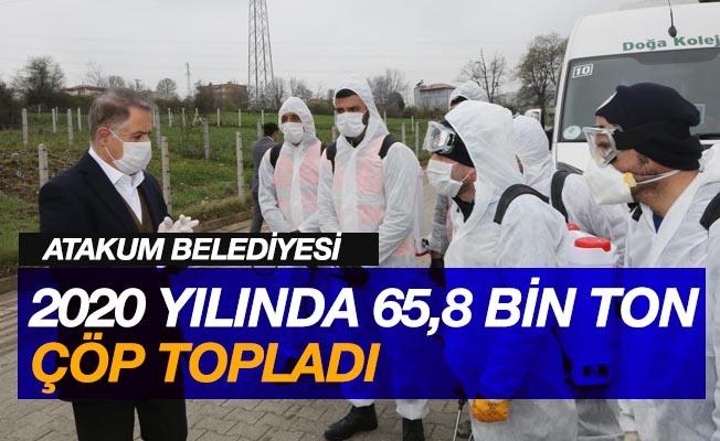 Atakum Belediyesi 2020 yılında 65,8 bin ton çöp topladı