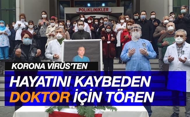 Korona virüsten hayatını kaybeden ortopedi doktoru için tören
