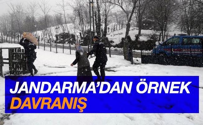 Jandarma'dan örnek davranış