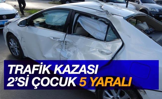 Samsun'da trafik kazası: 5 yaralı
