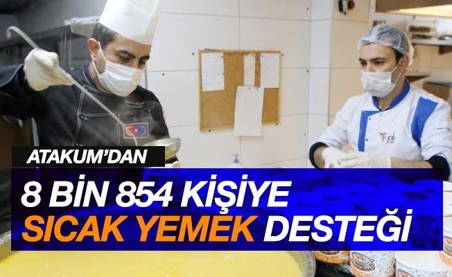 Atakum'dan 8 bin 854 kişiye sıcak yemek desteği