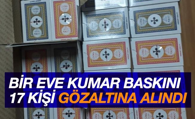 Samsun'da bir eve kumar operasyonu: 17 gözaltı