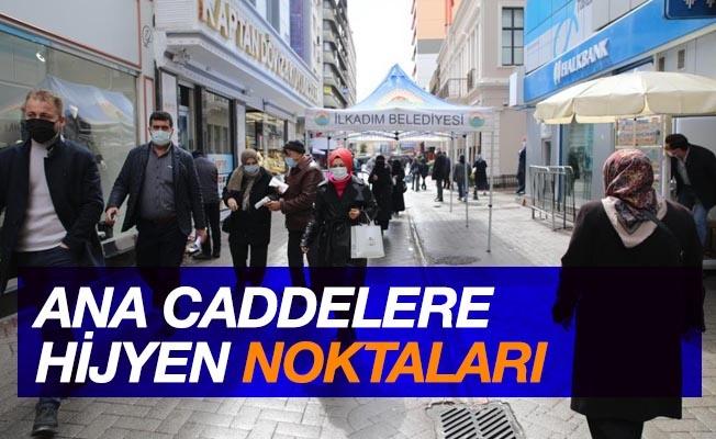 Samsun'da ana caddelere hijyen noktaları