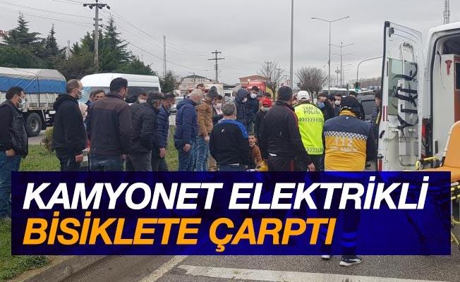 Kamyonet elektrikli bisiklete çarptı: 1 ölü