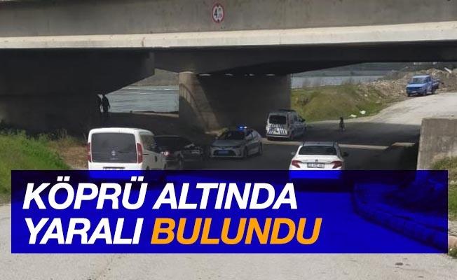 Köprü altında yaralı bulundu