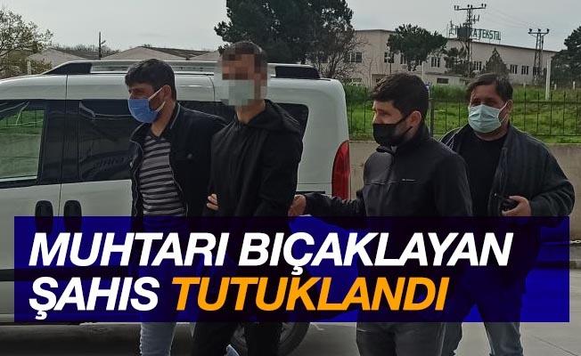Muhtarı bıçaklayan zanlı tutuklandı