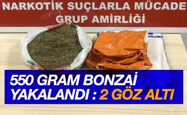 Samsun'da 550 gram bonzai ele geçirildi: 2 gözaltı