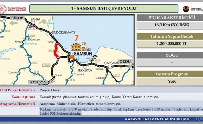 1,2 miyar TL bütçeli 'Samsun Batı Çevre Yolu'nun projesi onaylandı