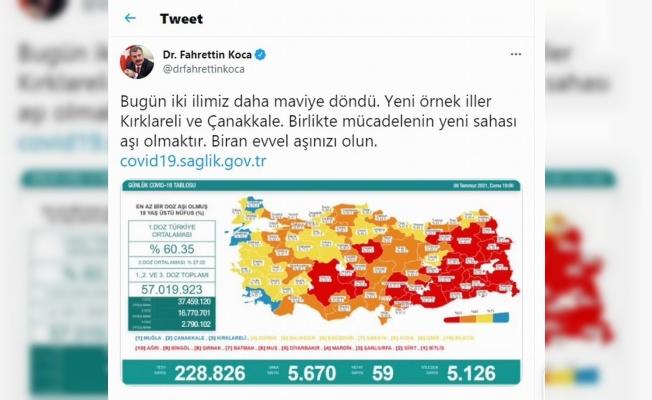 Samsun'un aşılama oranı yüzde 62,6
