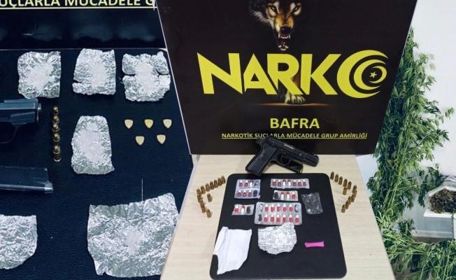 Bafra'da uyuşturucu ile mücadele