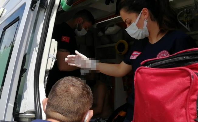 Samsun'da bir kadın, kocasını sırtından bıçakladı