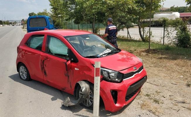 Samsun'da otomobil tırla çarpıştı: 1 yaralı