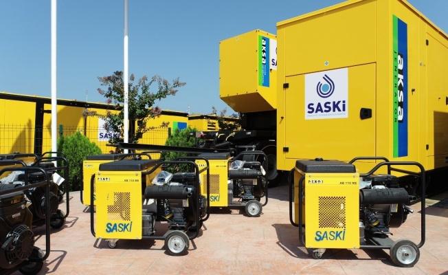 SASKİ'den 8,1 milyonluk yatırım: 34 jeneratör alındı