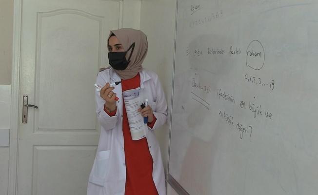 Canik'te YKS hazırlık okulu öğrencileri ders başı yaptı