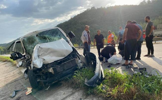 Samsun'da kamyonet kamyona arkadan çarptı: 1 ağır yaralı