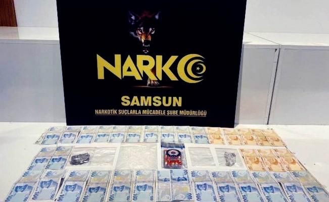Samsun'da satışa hazır uyuşturucuyla yakalandı