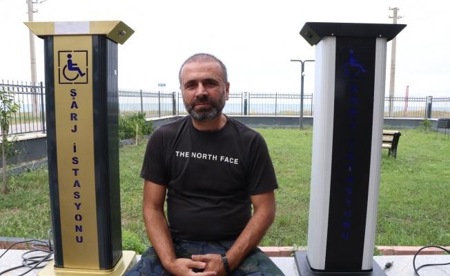Tasarladığı şarj istasyonu ile akülü araç kullanan engellilere umut olacak