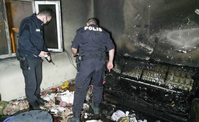 Baba-oğulun yangın tartışması evi yaktı