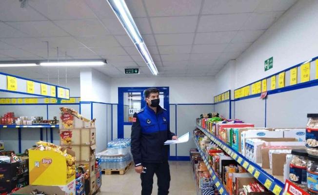Bafra'da marketlere etiket denetimi