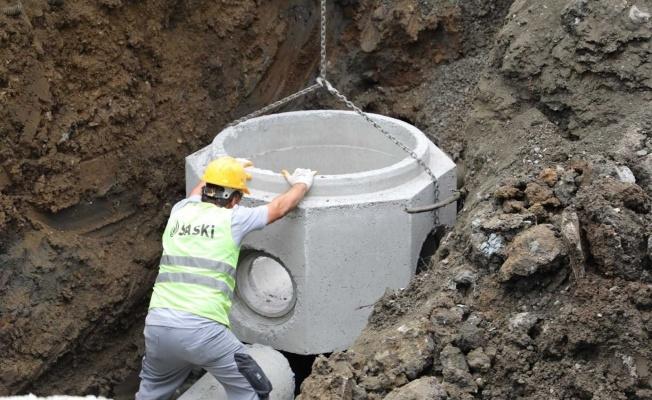Canik'teki 'yağmur suyu kolektör hattı' tamamlandı