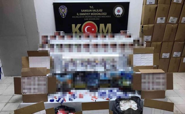 Samsun'da paketler halinde kaçak sigara mamulleri ele geçirildi