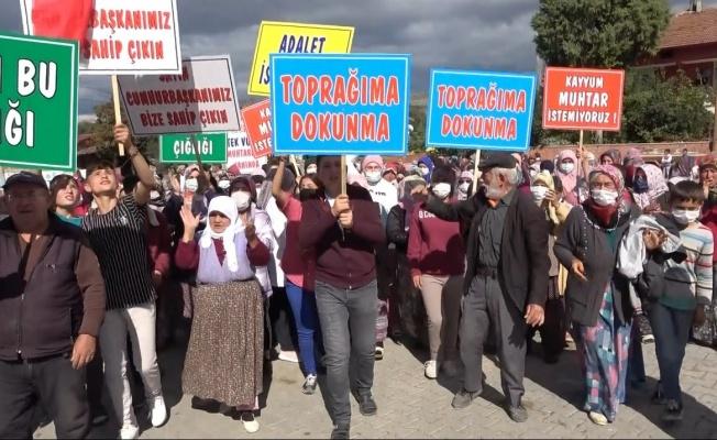 Vezirköprü'de eylem yapan vatandaşlardan 'provokasyon' tepkisi