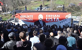 Erhan Usta, Ayvacık Seçim Kordinasyon Merkezi (SKM) açılışını gerçekleştirdi.