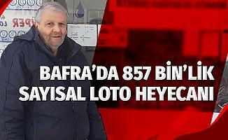 Bafra'da 857 Bin TL'lik Sayısal Loto heyecanı
