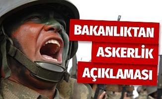 Milli Savunma Bakanlığı'ndan bedelli askerlik ile ilgili flaş açıklama