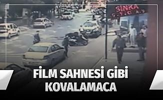 Esenyurt'ta sokak ortasında silahlı kovalamaca kamerada