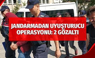 Jandarmadan uyuşturucu operasyonu: 2 gözaltı