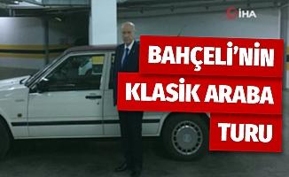 MHP Genel Başkanı Bahçeli'nin klasik araba turu