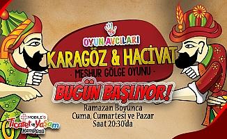 Ramazan Boyunca Karagöz ve Hacivat Etkinliği Oyun Avcıları Samsun'da Bugün Başlıyor
