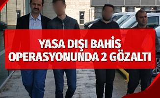 Samsun'da yasa dışı bahis operasyonu: 2 gözaltı