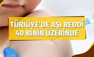 Türkiye'de aşı reddi 40 binin üzerinde