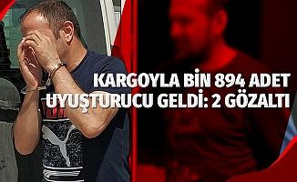 Kargodan bin 894 adet uyuşturucu hap ele geçirildi: 2 gözaltı