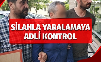 Samsun'da silahla yaralamaya adli kontrol