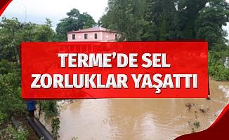 Terme'yi sel bastı, vatandaş zor anlar yaşadı