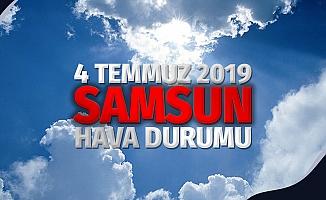 4 Temmuz 2019 Perşembe Samsun Hava Durumu