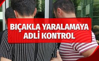 Samsun'da bıçakla yaralamaya adli kontrol