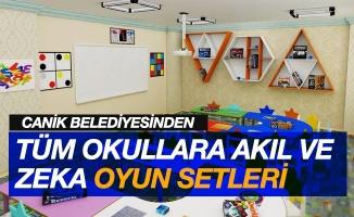 Canik'ten tüm okullara akıl ve zeka oyunları setleri