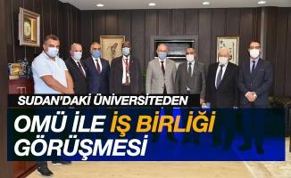 Sudan'daki üniversiteden OMÜ'yle iş birliği görüşmesi
