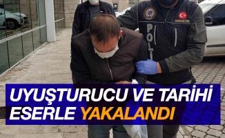 Uyuşturucu ve tarihi eserle yakalanan şahıs tutuklandı