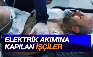 Samsun'da elektrik akımına kapılan 2 kişi ölümden döndü