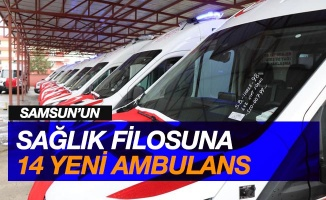 Samsun'un sağlık filosuna 14 yeni ambulans