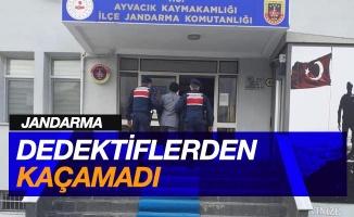 Jandarma dedektiflerinden kaçamadı