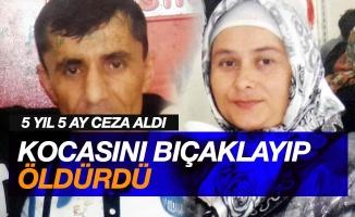 Kocasını bıçaklayıp ölümüne sebep olan kadın yeniden yargılanınca yine 5 yıl 5 ay hapis cezasına çarptırıldı