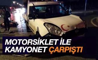 Samsun'da motosiklet kamyonet ile çarpıştı: 1 yaralı