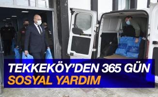 Tekkeköy'den 365 gün sosyal yardım