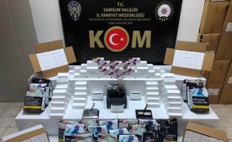 Samsun'da kaçak tütün mamulleri ele geçirildi